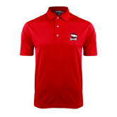Red Dry Mesh Polo-Charlotte Checkers - Offical Logo