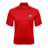 Red Textured Saddle Shoulder Polo-Charlotte Checkers - Offical Logo