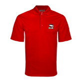 Red Mini Stripe Polo-Charlotte Checkers - Offical Logo