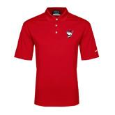 Nike Golf Dri Fit Red Micro Pique Polo-Bear Head w/ Flag