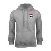 Grey Fleece Hood-Charlotte Checkers - Offical Logo