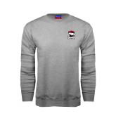 Grey Fleece Crew-Charlotte Checkers - Offical Logo