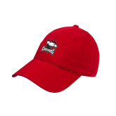 Red Twill Unstructured Low Profile Hat-Charlotte Checkers - Offical Logo