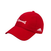 Adidas Red Slouch Unstructured Low Profile Hat-Charlotte Checkers