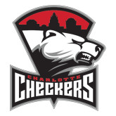 Extra Large Magnet-Charlotte Checkers - Offical Logo