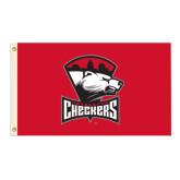 3 ft x 5 ft Flag-Charlotte Checkers - Offical Logo