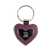 Silver/Pink Heart Key Holder-Charlotte Checkers - Offical Logo Engraved