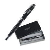 Balmain Black Statement Roller Ball Pen w/Blue Ink-Charlotte Checkers Engraved