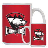 Full Color White Mug 15oz-Charlotte Checkers - Offical Logo