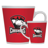 12oz Ceramic Latte Mug-Charlotte Checkers - Offical Logo