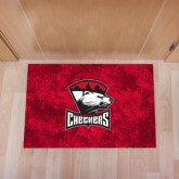 Full Color Indoor Floor Mat-Charlotte Checkers - Offical Logo