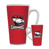 Full Color Latte Mug 17oz-Charlotte Checkers - Offical Logo