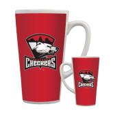 Full Color Latte Mug 17oz-Charlotte Checkers - Offical Logo
