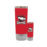 Full Color Glass Shooter 2oz-Charlotte Checkers - Offical Logo