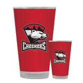 Full Color Glass 17oz-Charlotte Checkers - Offical Logo