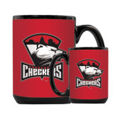 Full Color Black Mug 15oz-Charlotte Checkers - Offical Logo