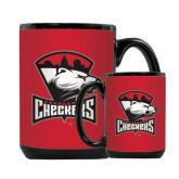 Full Color Black Mug 15oz-Charlotte Checkers - Offical Logo