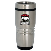 Rolling Ridges Silver Stainless Tumbler-Charlotte Checkers - Offical Logo