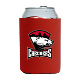 Collapsible Red Can Holder-Charlotte Checkers - Offical Logo
