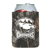 Collapsible Mossy Oak Camo Can Holder-Charlotte Checkers - Offical Logo