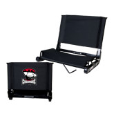 Stadium Chair Black-Charlotte Checkers - Offical Logo