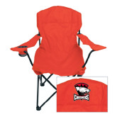 Deluxe Red Captains Chair-Charlotte Checkers - Offical Logo