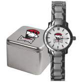 Mens Stainless Steel Fashion Watch-Charlotte Checkers - Offical Logo