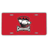 License Plate-Charlotte Checkers - Offical Logo