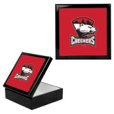 Ebony Black Accessory Box With 6 x 6 Tile-Charlotte Checkers - Offical Logo