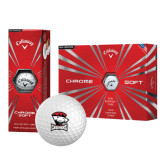 Callaway Chrome Soft Golf Balls 12/pkg-Charlotte Checkers - Offical Logo