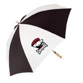 62 Inch Black/White Umbrella-Charlotte Checkers - Offical Logo
