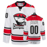 Checkers White Hockey Jersey Personalized-
