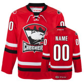 Checkers Red Hockey Jersey Personalized-