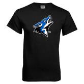 Black T Shirt-Coyote Head