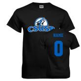 Black T Shirt-Primary Logo, Custom Tee w/ Name and #