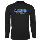 Syntrel Performance Black Longsleeve Shirt-CSUSB Athletics