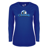 Ladies Syntrel Performance Royal Longsleeve Shirt-Primary Logo