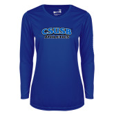 Ladies Syntrel Performance Royal Longsleeve Shirt-CSUSB Athletics