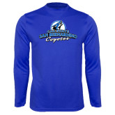 Syntrel Performance Royal Longsleeve Shirt-Secondary Logo