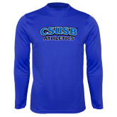 Syntrel Performance Royal Longsleeve Shirt-CSUSB Athletics