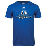 Adidas Climalite Royal Ultimate Performance Tee-Secondary Logo