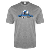 Performance Grey Heather Contender Tee-Secondary Logo