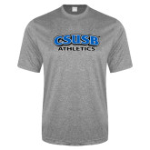 Performance Grey Heather Contender Tee-CSUSB Athletics