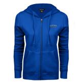 ENZA Ladies Royal Fleece Full Zip Hoodie-CSUSB Athletics