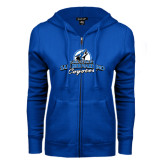 ENZA Ladies Royal Fleece Full Zip Hoodie-Secondary Logo