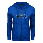 ENZA Ladies Royal Fleece Full Zip Hoodie-CSUSB Athletics