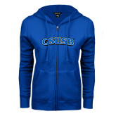ENZA Ladies Royal Fleece Full Zip Hoodie-CSUSB