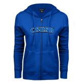 ENZA Ladies Royal Fleece Full Zip Hoodie-CSUSB
