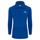Columbia Ladies Half Zip Royal Fleece Jacket-Primary Logo