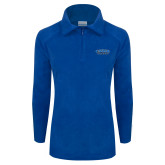 Columbia Ladies Half Zip Royal Fleece Jacket-CSUSB Athletics